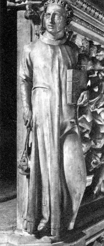 A Deacon [detail: the pulpit] by Giovanni Pisano